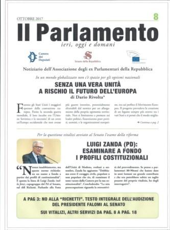 """Pubblicato l'ultimo numero della rivista """"Il Parlamento"""""""
