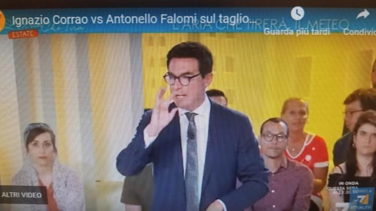 """Falomi alla trasmissione """"L'Aria che tira estate"""" del 12 luglio 2019"""